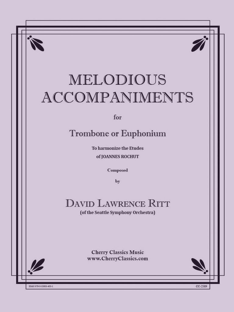 Ritt - Melodious Accompaniments to Rochut Etudes Book 1 for Trombone or Euphonium - Cherry Classics Music