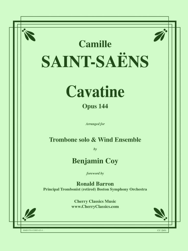 Saint-Saens - Cavatine for Trombone and Wind Ensemble - Cherry Classics Music