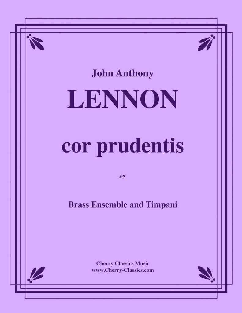 Lennon - cor prudentis for Large Brass Ensemble and Timpani - Cherry Classics Music