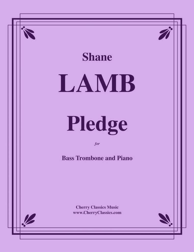 Lamb - Pledge for Bass Trombone and Piano - Cherry Classics Music