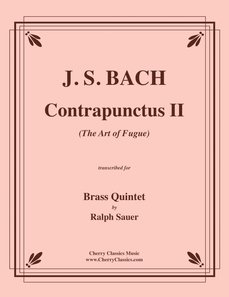 "Bach - Contrapunctus II from ""The Art of Fugue"" for Brass Quintet - Cherry Classics Music"