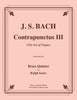"Bach - Contrapunctus III from ""The Art of Fugue"" for Brass Quintet - Cherry Classics Music"