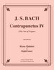 "Bach - Contrapunctus IV from ""The Art of Fugue"" for Brass Quintet - Cherry Classics Music"