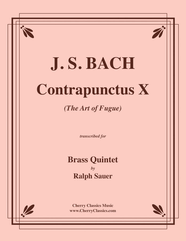 Bach - Contrapunctus X from The Art of Fugue for Brass Quintet - Cherry Classics Music