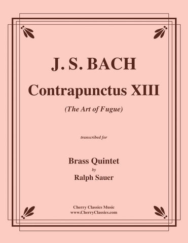 Bach - Contrapunctus VIII from The Art of Fugue for Brass Quintet