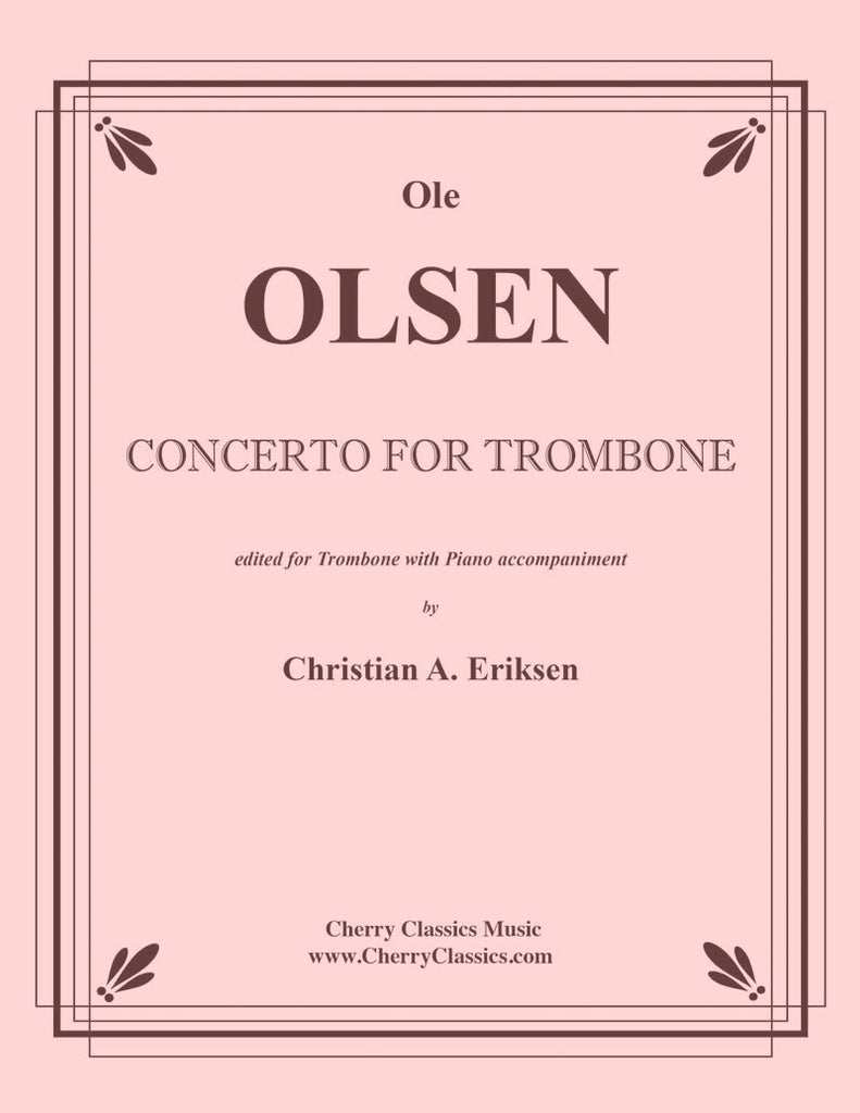 Olsen - Concerto in F for Trombone and Piano - Cherry Classics Music