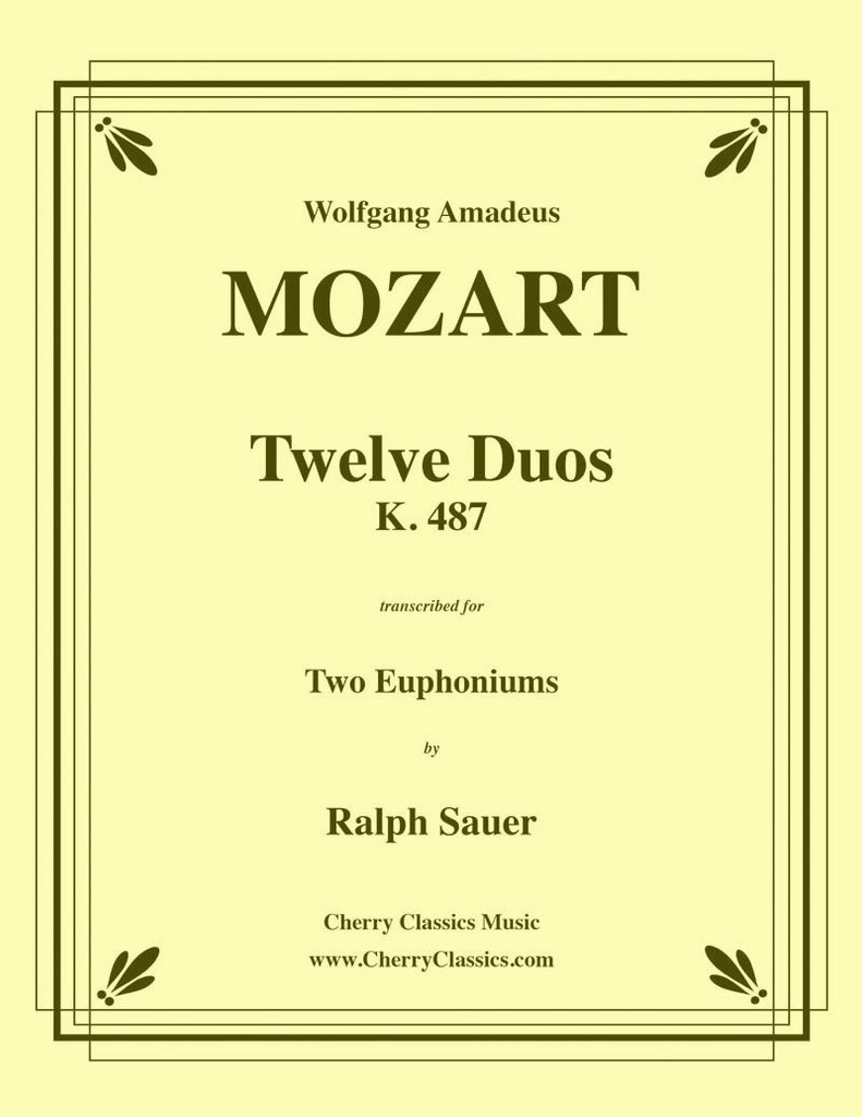Mozart - Twelve Duos for Two Euphoniums - Cherry Classics Music
