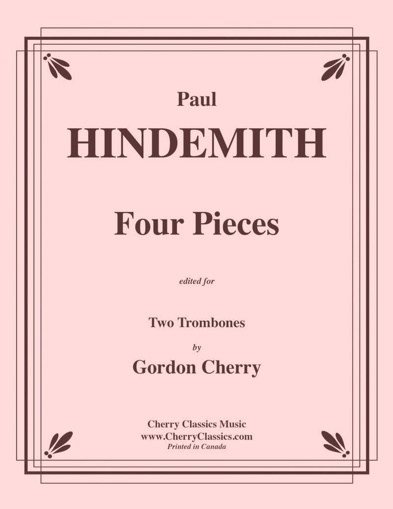 Hindemith - Four Pieces for Two Trombones - Cherry Classics Music
