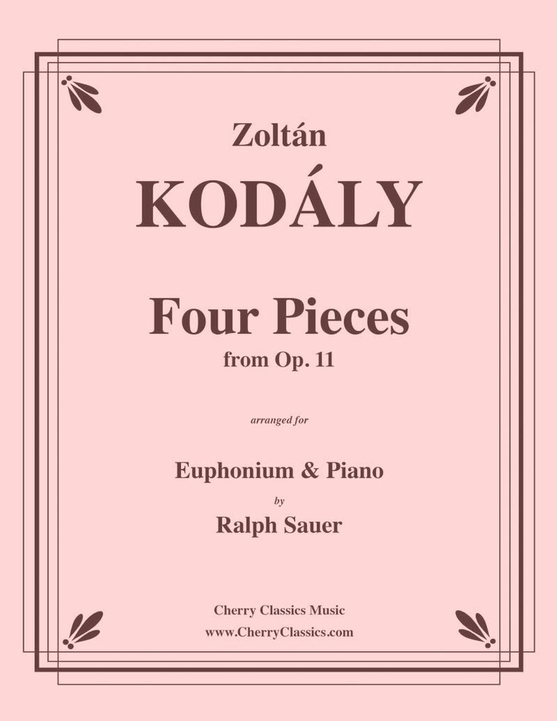 Kodaly - Four Pieces from Op. 11 for Euphonium and Piano - Cherry Classics Music