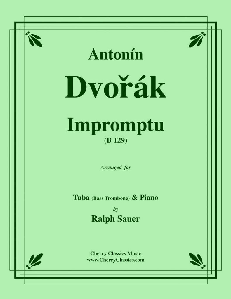 Dvorak - Impromptu for Tuba or Bass Trombone & Piano - Cherry Classics Music