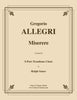 Allegri - Miserere for 5-Part Trombone Ensemble - Cherry Classics Music