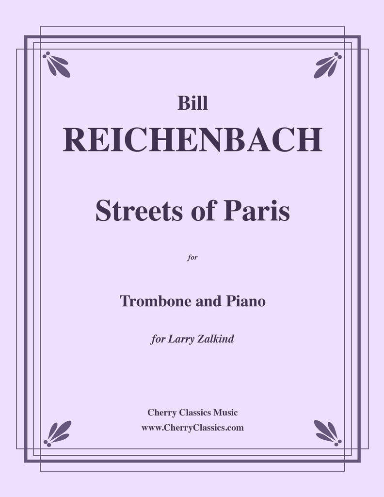 Reichenbach - Streets of Paris for Trombone and Piano