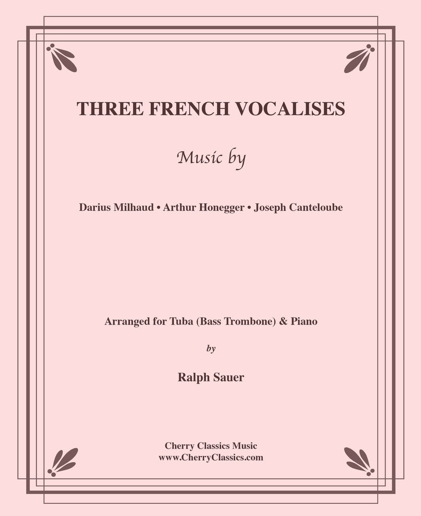 Various - Three French Vocalises for Tuba or Bass Trombone & Piano - Cherry Classics Music