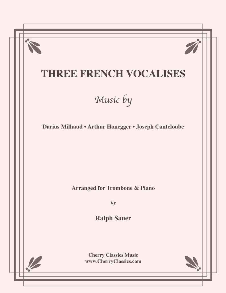 Various - Three French Vocalises for Trombone & Piano - Cherry Classics Music