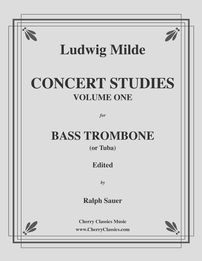 Milde - Concert Studies for Bass Trombone or Tuba, Volume 1