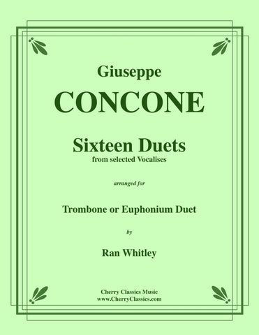 Ervin - Twenty Counterparts Book 1 Duet Accompaniments to Bordogni Etudes 1-20 for Trombone