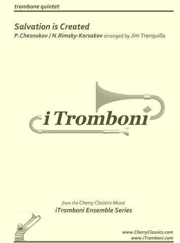 Mendelssohn - Selections from Elijah for 8-part Trombone Ensemble & opt. Organ