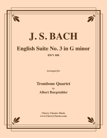 "Bach - Capriccio BWV 992 ""On the Departure of a Beloved Brother"" for 4-part Trombone Ensemble"
