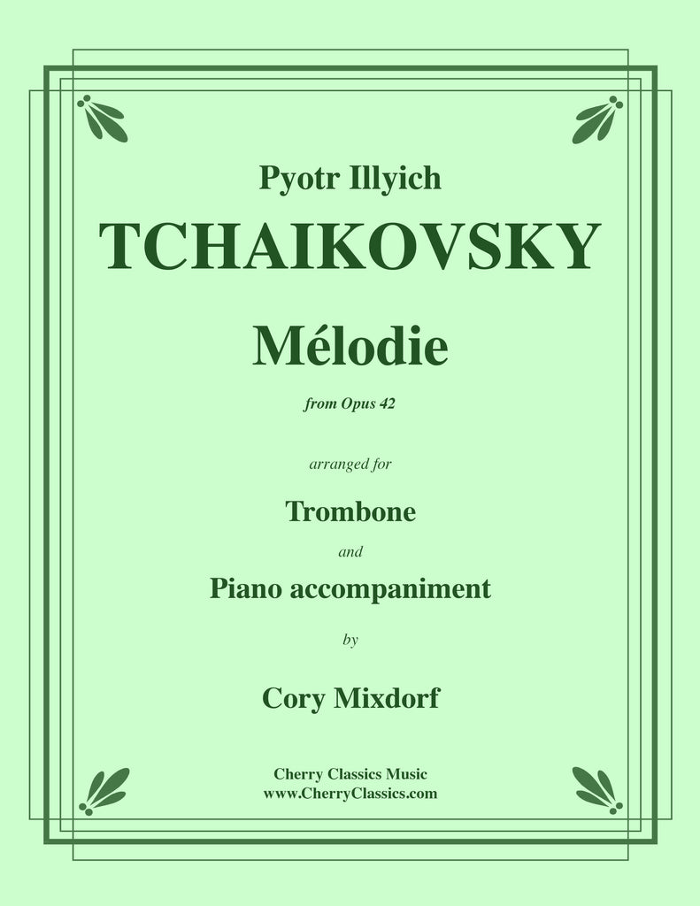 Tchaikovsky - Mélodie from Op. 42 for Trombone and Piano - Cherry Classics Music