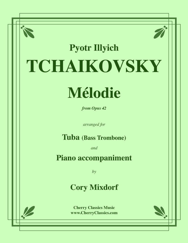Tchaikovsky - Mélodie from Op. 42 for Tuba or Bass Trombone and Piano - Cherry Classics Music