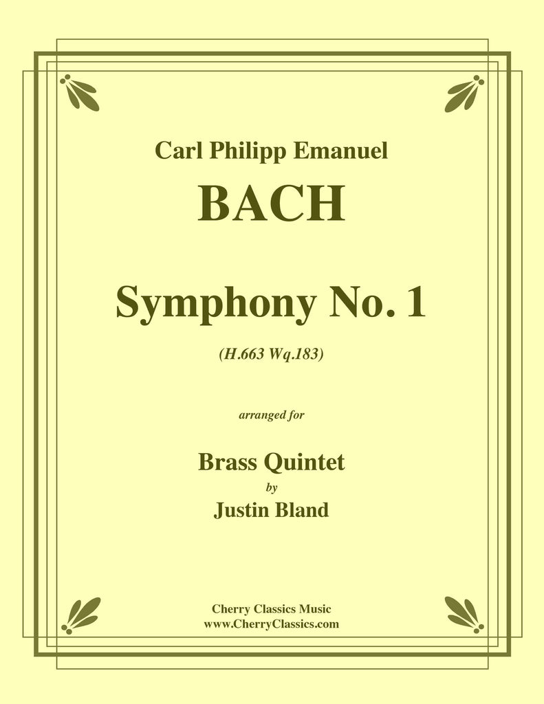 BachCPE - Symphony No. 1 for Brass Quintet by C. P. E. Bach - Cherry Classics Music