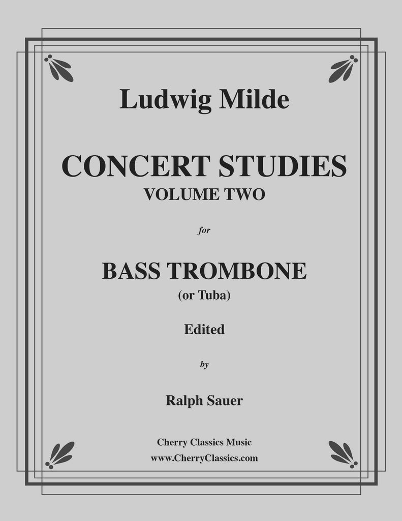 Milde - Concert Studies for Bass Trombone or Tuba, Volume 2