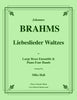 Brahms - Liebeslieder Waltzes for Large Brass Ensemble and Piano Four Hands - Cherry Classics Music