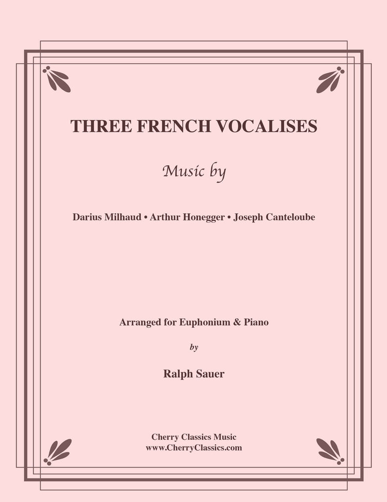 Various - Three French Vocalises for Euphonium & Piano - Cherry Classics Music