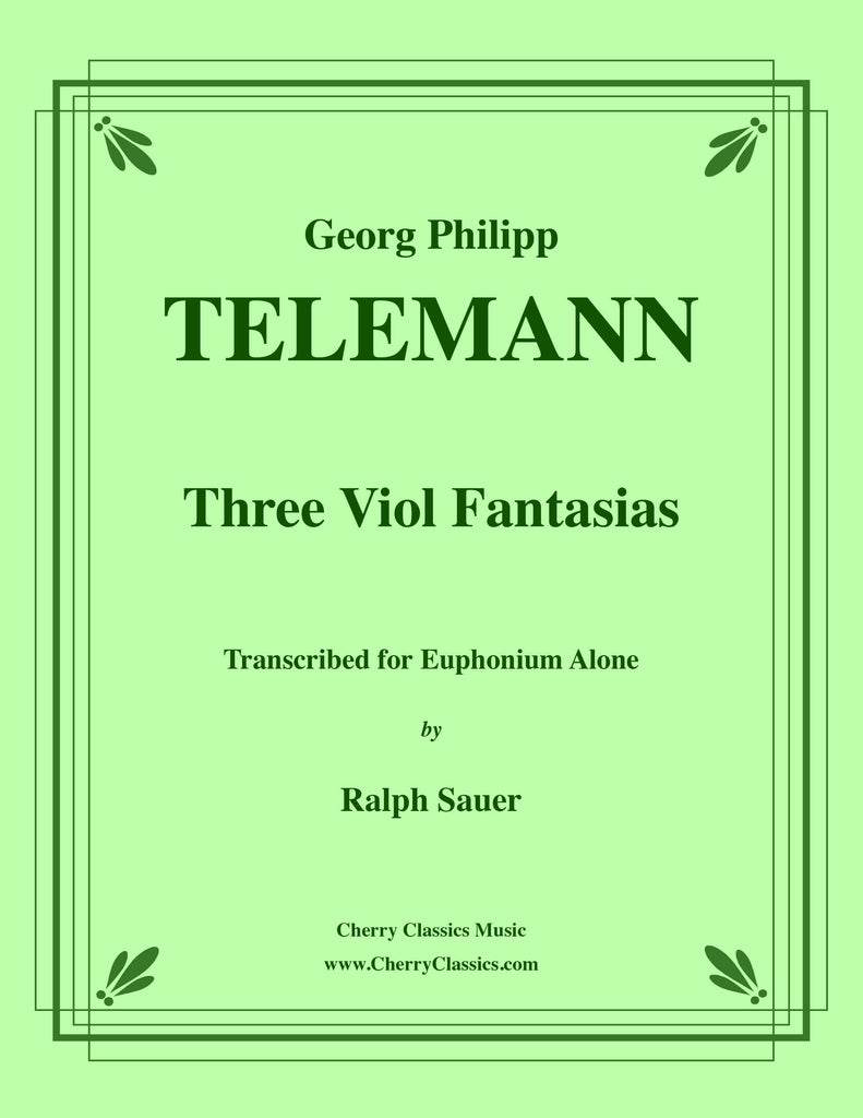 Telemann - Three Viol Fantasias for Euphonium Alone