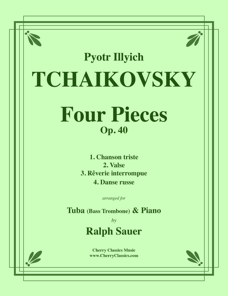Tchaikovsky - Four Pieces Op. 40 for Tuba or Bass Trombone and Piano - Cherry Classics Music