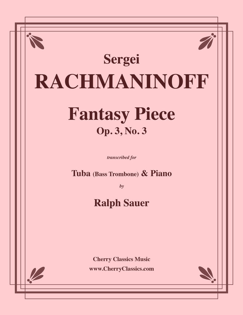 Rachmaninoff - Fantasy Piece Op. 3 No. 3 for Tuba or Bass Trombone and Piano
