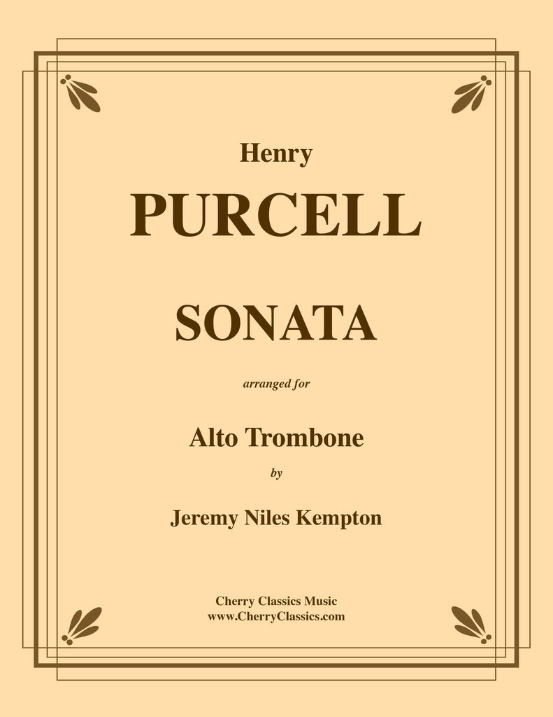 Purcell - Sonata for Alto Trombone and Piano or Organ accompaniment