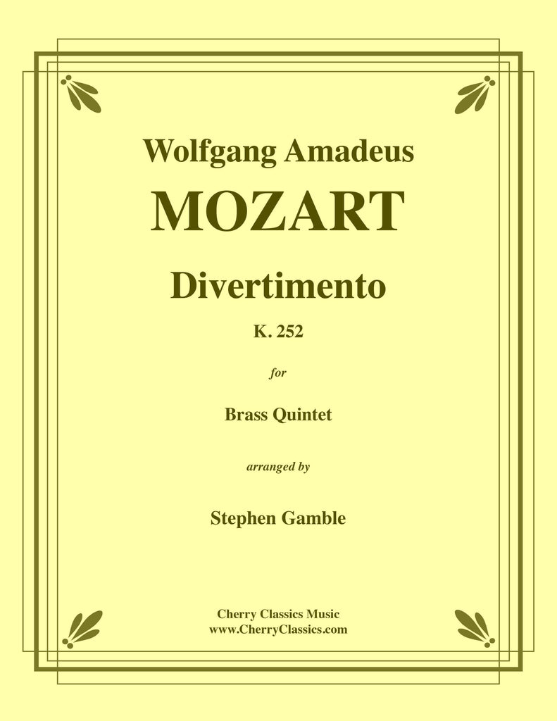Mozart - Divertimento K. 252 for Brass Quintet