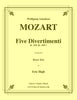 Mozart - Five Divertimenti K. 229 (K. 439b) for Brass Trio - Cherry Classics Music