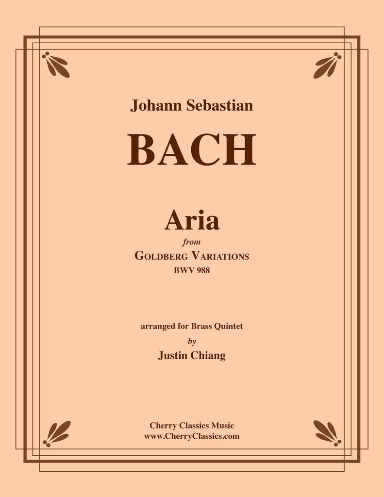 Bach - Aria from Goldberg Variations BWV 988 for Brass Quintet - Cherry Classics Music