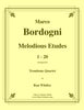 Bordogni - Melodious Etudes 1-20 for Trombone Quartet - Cherry Classics Music