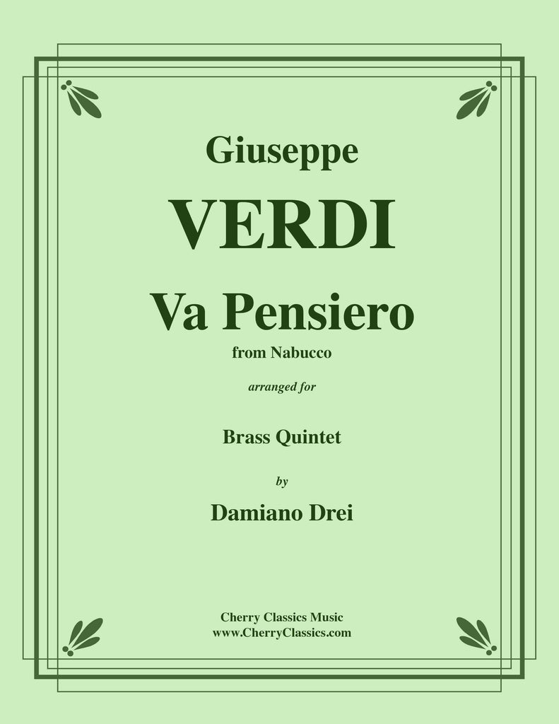 "Verdi - Va Pensiero from ""Nabucco"" for Brass Quintet"