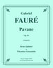 Faure - Pavane, Op. 50 for Brass Quintet - Cherry Classics Music