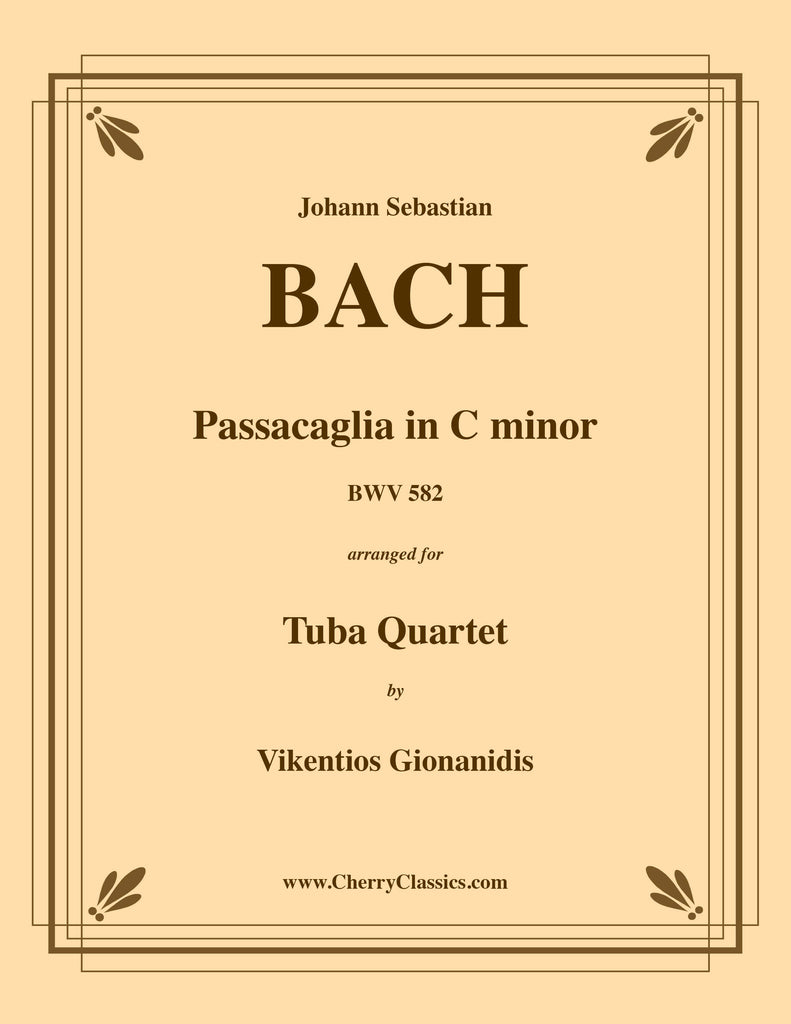 Bach - Passacaglia in C minor BWV 582 for Tuba Quartet - Cherry Classics Music