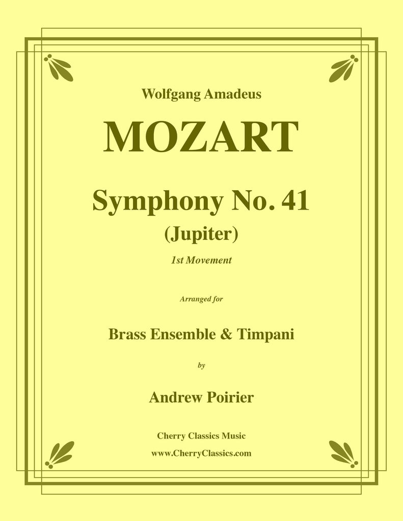 Mozart - Symphony No. 41 (Jupiter) 1st movement for 10-piece Brass Ensemble and Timpani - Cherry Classics Music