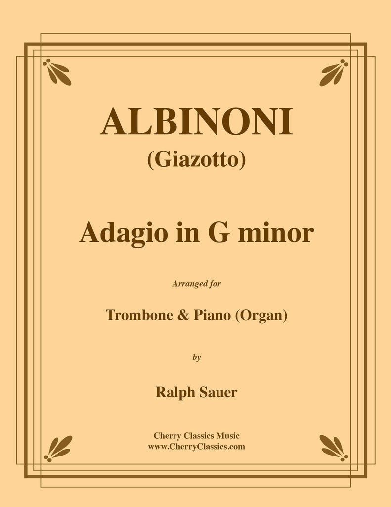 Albinoni - Adagio in G minor for Trombone and Piano (Organ) - Cherry Classics Music