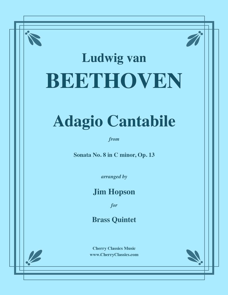 Beethoven - Adagio Cantabile from Sonata No. 8 in C minor for Brass Quintet
