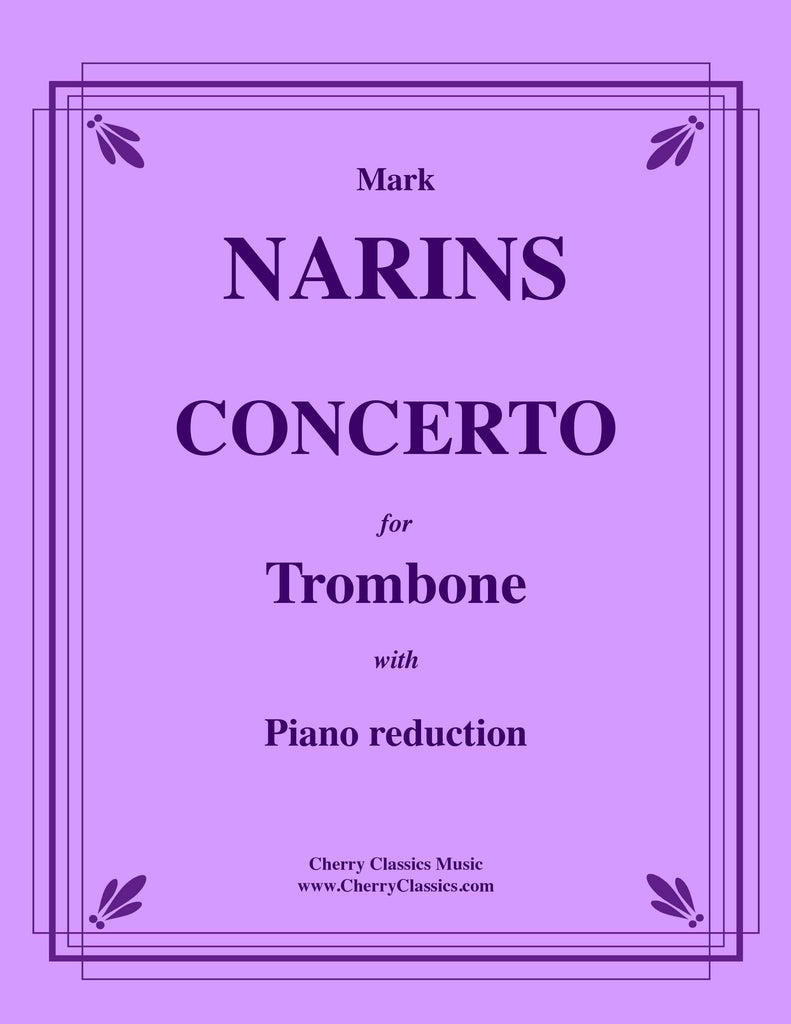 Narins - Concerto for Trombone and Orchestra (2020) with Piano reduction
