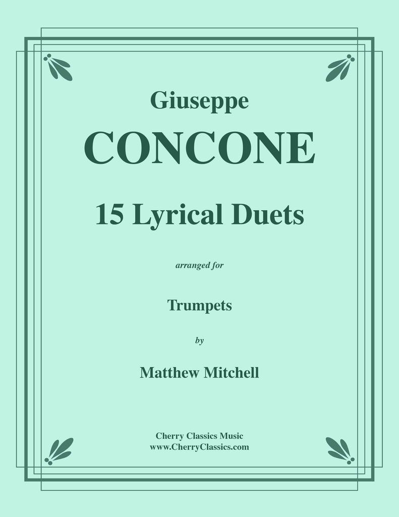 Concone - 15 Lyrical Duets for Trumpets