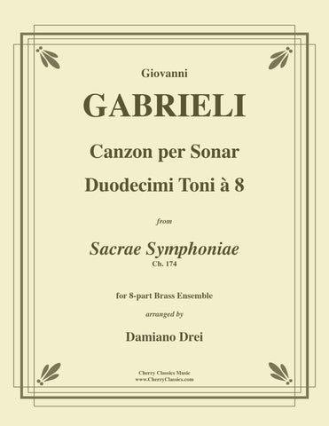 Gabrieli - Canzon per Sonar Septimi toni à 8 for 8-part Brass Ensemble w. substitute parts