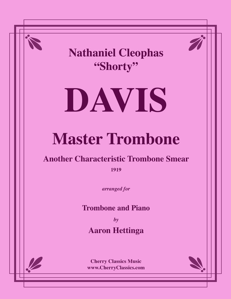 Davis - Master Trombone, another Characteristic Trombone Smear with Piano accompaniment