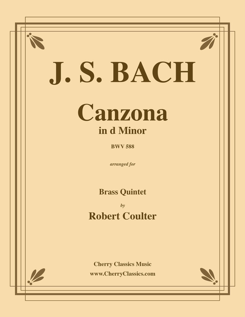 Bach - Canzona BWV 588 in d Minor for Brass Quintet