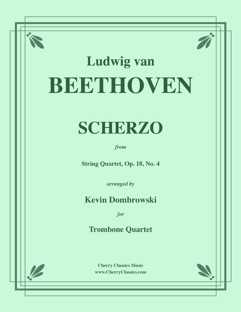 Beethoven - Scherzo, Op. 18, No. 4 for Trombone Quartet