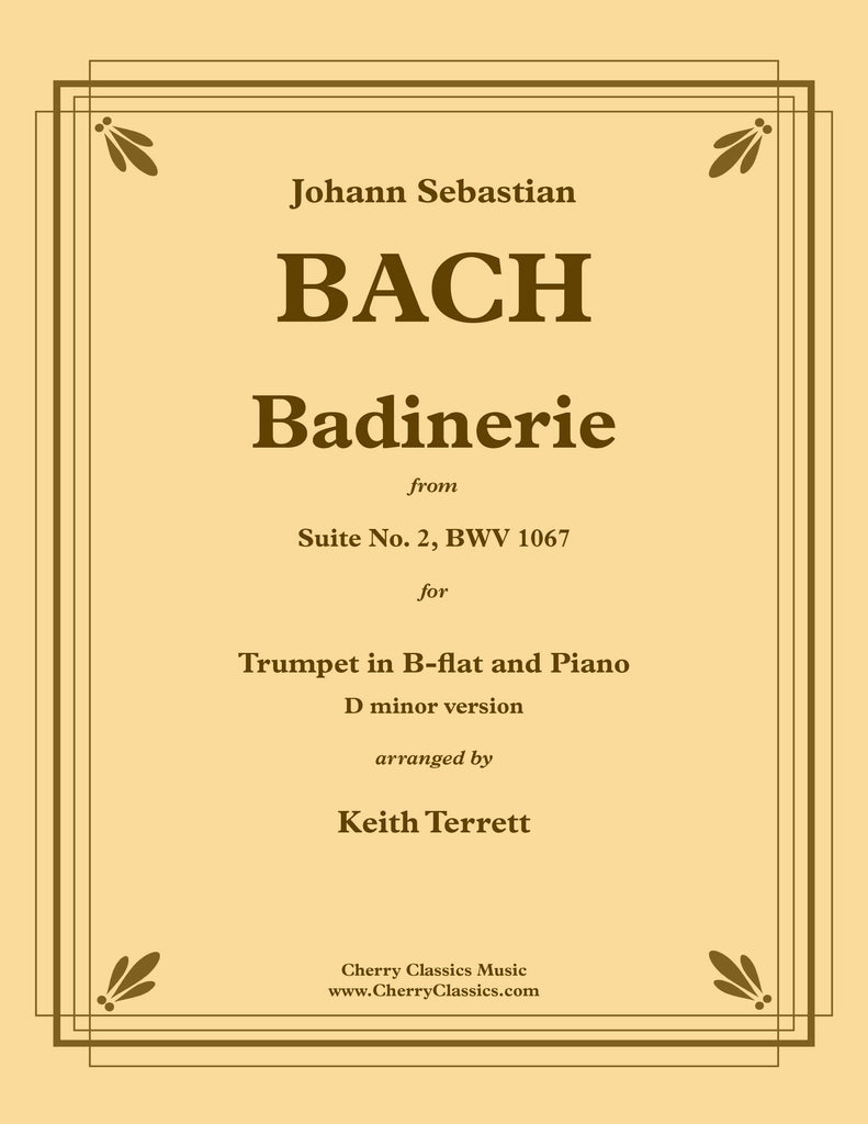 Bach - Badinerie for Trumpet in B-flat and Piano (D minor version)
