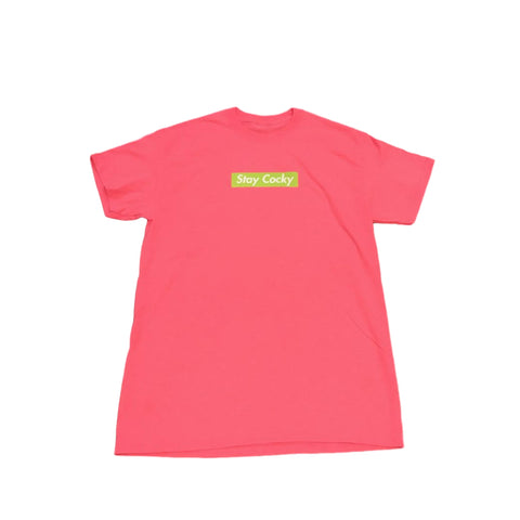 Cocky Socks Box Logo Shirt - Pink